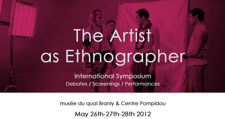 L'artiste en ethnographe