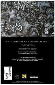 Y A-T-IL UN RÉGIME POSTCOLONIAL DES ARTS ?